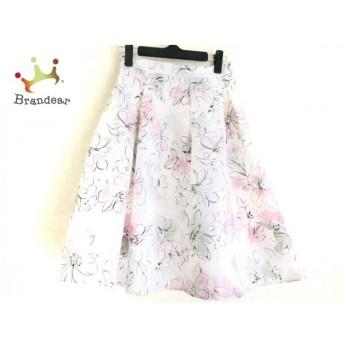 ジャスグリッティー JUSGLITTY スカート サイズ0 XS レディース 美品 白×ピンク×マルチ 花柄 値下げ 20190914