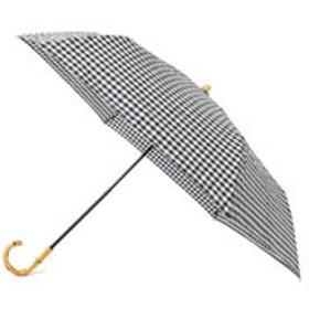 【SHIPS:ファッション雑貨】ギンガムチェック晴雨折りたたみ傘