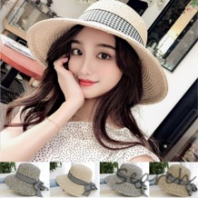 【春新作】麥わら帽子 レディース つば広 アウトドア 紫外線対策 UVカット 日焼け止め 夏 uv 大きいサイズ
