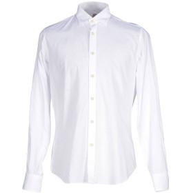 《期間限定 セール開催中》MOSCA メンズ シャツ ホワイト 38 コットン 100%