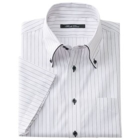 【メンズ】 形態安定デザインYシャツ(半袖) - セシール ■カラー:ライトグレー ■サイズ:LL,4L,L,5L,3L