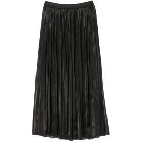【6,000円(税込)以上のお買物で全国送料無料。】シャイニーギャザーロング丈スカート