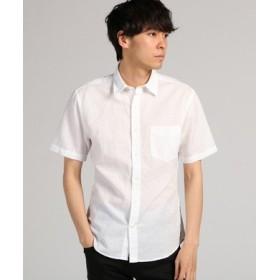 BACK NUMBER フレンチリネンショートスリーブシャツ メンズ ホワイト