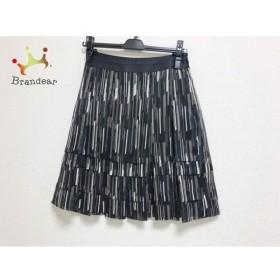 ニジュウサンク 23区 スカート サイズ32 XS レディース 美品 黒×ブラウン×マルチ 新着 20190620