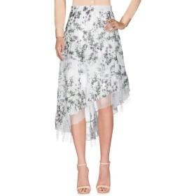 《9/20まで! 限定セール開催中》BLUMARINE レディース ひざ丈スカート ホワイト 44 コットン 100% / ナイロン