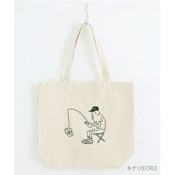 (merlot/メルロー)【テキスタイルコンペ作品】目玉焼きトースト釣れるコットンキャンバストートバッグ/レディース キナリ