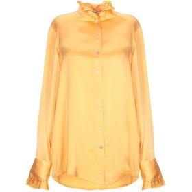 《セール開催中》HER SHIRT レディース シャツ オレンジ M シルク 94% / ポリウレタン 6%