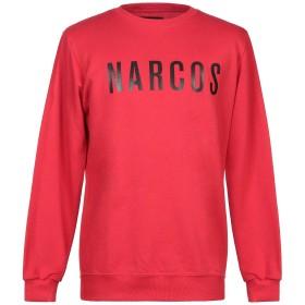 《セール開催中》NARCOS メンズ スウェットシャツ レッド L コットン 100%