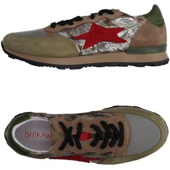 《セール開催中》ISHIKAWA メンズ スニーカー&テニスシューズ(ローカット) カーキ 40 紡績繊維 / 革
