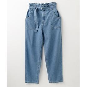 ベルト付マムデニムパンツ (レディースパンツ),pants