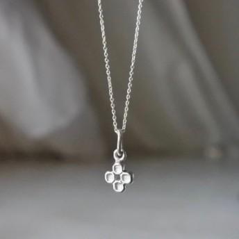 Necklace Four petals flower sv925
