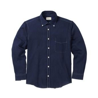 CANTERBURY WOOD(カンタベリーウッド)クレープ長袖シャツ カジュアルシャツ