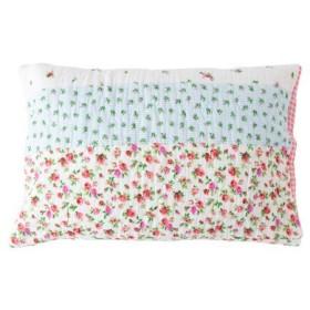 キルト枕カバー(洗いざらしダブルガーゼ) - セシール ■カラー:ピンク グリーン ■サイズ:L(63×43cm)