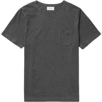 《9/20まで! 限定セール開催中》OLIVER SPENCER メンズ T シャツ 鉛色 L コットン 100%