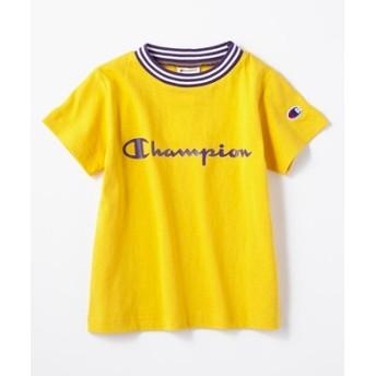Champion フロントロゴリンガーTシャツ キッズ イエロー