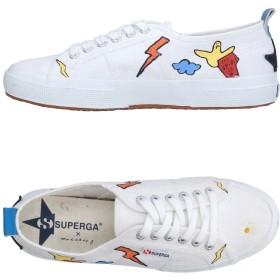 《期間限定セール開催中!》SUPERGA x MACCHIA J メンズ スニーカー&テニスシューズ(ローカット) ホワイト 40 紡績繊維 / 革