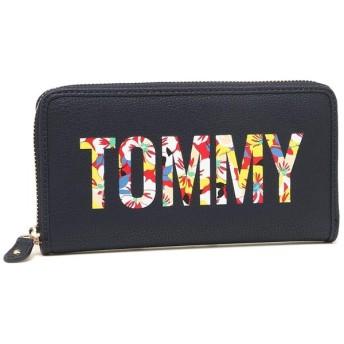 トミーヒルフィガー 財布 アウトレット TOMMY HILFIGER W86949164 467 メンズ レディース 長財布 ネイビー マルチ 紺