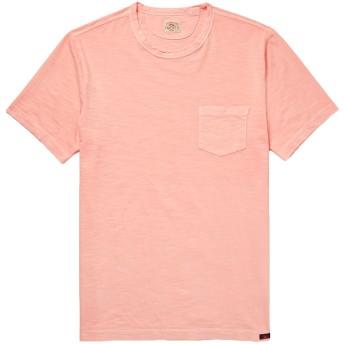 《セール開催中》FAHERTY メンズ T シャツ ピンク M コットン 100%