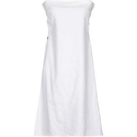 《期間限定 セール開催中》MANILA GRACE レディース ミニワンピース&ドレス ホワイト 38 コットン 51% / 麻 47% / ポリウレタン 2%