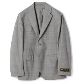 ESTNATION / LORO PIANA MOOVING グレンチェック2Bスーツ トップグレー/50(エストネーション)◆メンズ セットアップ