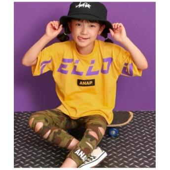 (ANAP KIDS/アナップキッズ)FELLOWプリントTシャツ/レディース イエロー