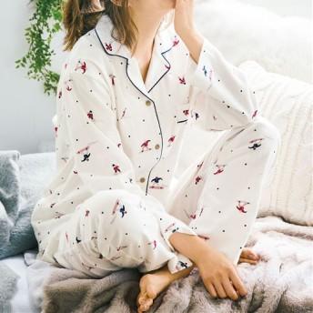 50%OFF【レディース】 コットン100% シャツパジャマ - セシール ■カラー:スノボー柄 ■サイズ:3L