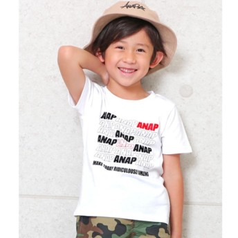 [マルイ]【セール】ポイントカラーANAPロゴTシャツ/アナップキッズ&ガール(ANAP KIDS&GIRL)