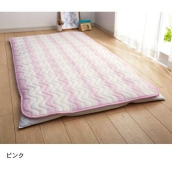 布団カバー シーツ 敷きパッド パッドシーツ しじら風変わり織り敷きパッド カラー 「ピンク」