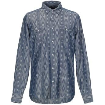 《期間限定セール開催中!》MESSAGERIE メンズ デニムシャツ ブルー 41 コットン 69% / 麻 31%