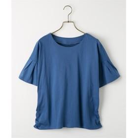 汗ジミ防止袖フレアTシャツ (Tシャツ・カットソー)(レディース)T-shirts