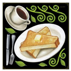Pデコレーションシール 68579 コーヒー トースト