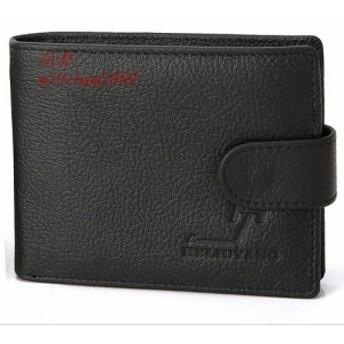 二つ折り 2つ折り 財布 短財布 メンズ 札入れ box型 二つ折り財布 カードポケット コインケース BOX型 小銭入れ ・ メンズ財布 本革