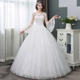 ブライズメイドドレス 披露宴 パーティードレス 花嫁 ウェディングドレス 結婚式 お呼ばれドレス ドレス 結婚式ドレス 袖なし 花柄 レー