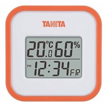 タニタ 温湿度計 デジタル オレンジ TT-558 OR 壁掛け 卓上 マグネット