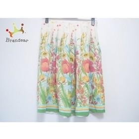 ブルーガールブルマリン スカート サイズ38(I) S レディース 白×ピンク×マルチ シルク/花柄  値下げ 20190916