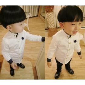 子供シャツ こどもシャツ キッズ 子供服 フォーマル 男の子シャツ キッズ ジュニア 七五三 ベビー 入學式 白シャツ ス