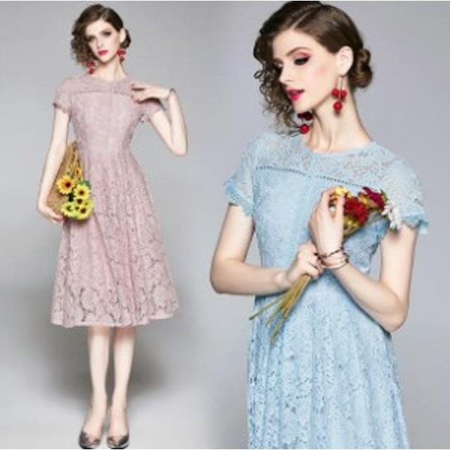 レディースファッション★ Aラインワンピース パーティードレス 披露式 結婚式 二次会 卒業式 20代 30代   2COLOR