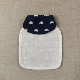 赤ちゃんの背中に 汗取りパッド 《くるま 濃青》
