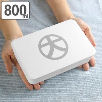 お弁当箱 1段 大 DON一段ランチ 800ml ホワイト ( 弁当箱 男子 大容量 レンジ対応 )