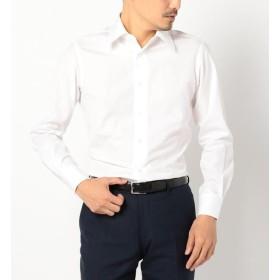 【シップス/SHIPS】 SD: 【ALBINI社製生地】ファインフィット ソリッド レギュラーカラー シャツ(ホワイト)
