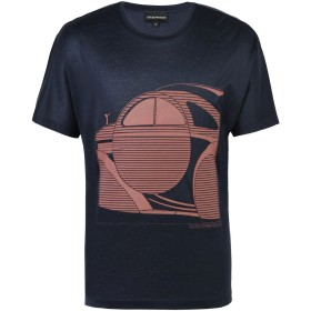 《期間限定 セール開催中》EMPORIO ARMANI メンズ T シャツ ダークブルー S コットン 100%