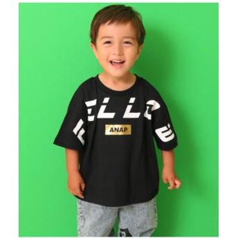 【30%OFF】 アナップキッズ FELLOWプリントTシャツ レディース ブラック 110 【ANAP KIDS】 【セール開催中】