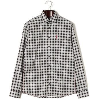 【69%OFF】WEBER デザイン柄 ロゴ刺しゅう 長袖シャツ ブラック 2xl