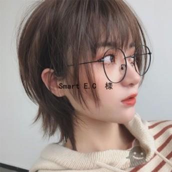 ウィッグショートヘアフルウィッグ[髪を切らず]カラーかつら女性 自然 付け毛耐熱 春夏