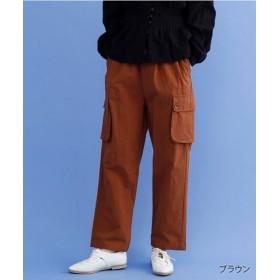 (merlot/メルロー)サイドポケットコットンパンツ/レディース ブラウン
