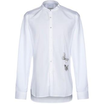 《セール開催中》SAPORE メンズ シャツ ホワイト 42 コットン 100%