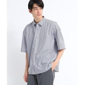 tk.TAKEO KIKUCHI / ティーケー タケオキクチ ストライプオーバーシャツ