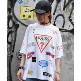ロイヤルフラッシュ Guess×ROYAL FLASH/ゲス ロゴプリント Tシャツ メンズ WHITE S 【RoyalFlash】