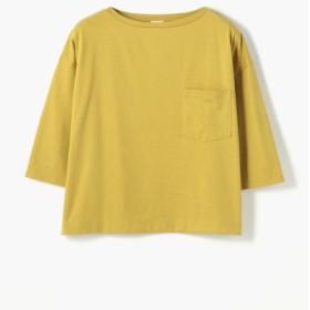 (TOMORROWLAND/トゥモローランド)ファインコットン ビッグTシャツ/レディース 25イエロー