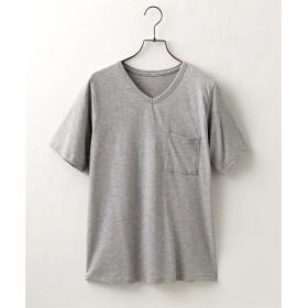 【抗菌防臭。汗染み防止加工】綿100%Vネック半袖Tシャツ (Tシャツ・カットソー)(レディース)T-shirts
